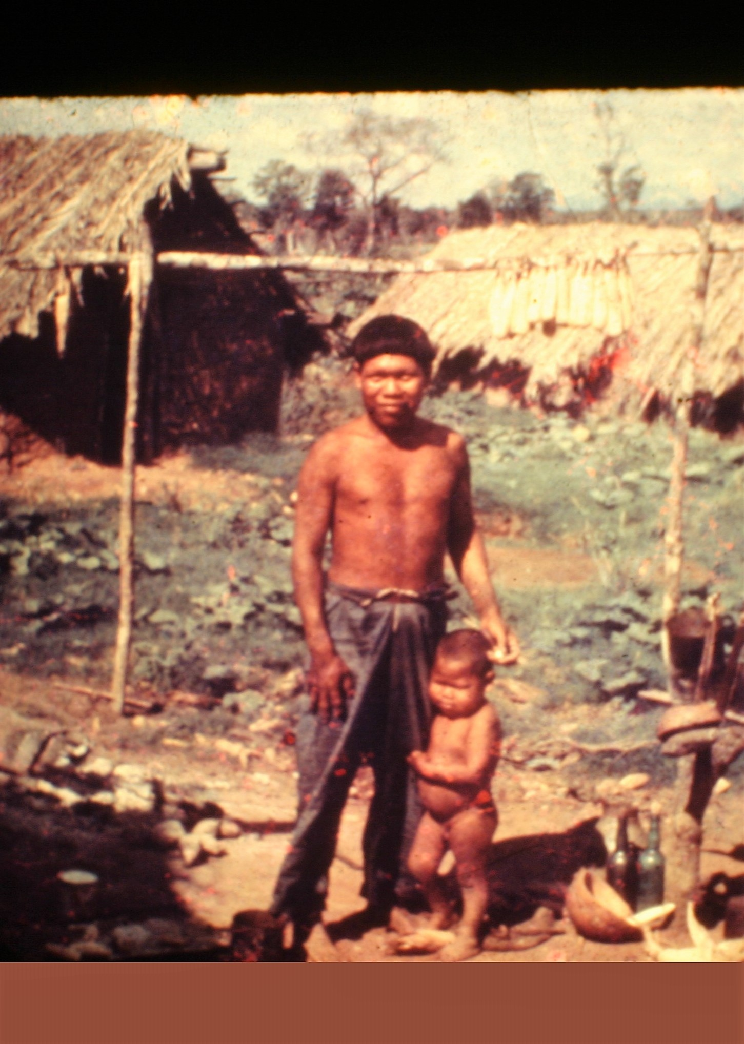 Ayoré father with his child