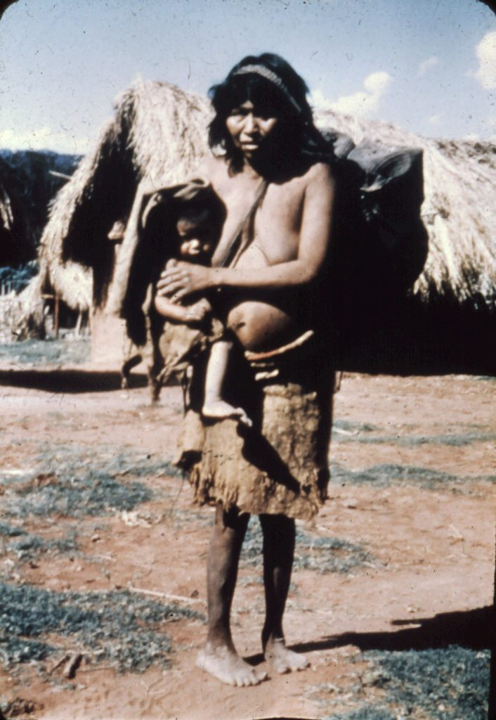 Ayoré lady and baby in sling