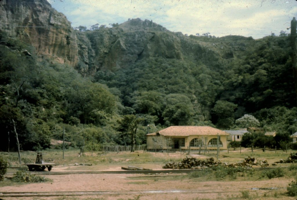 Ayoré land - El Portón railroad station - cutting ties for tracks provides a living for ayoreos.