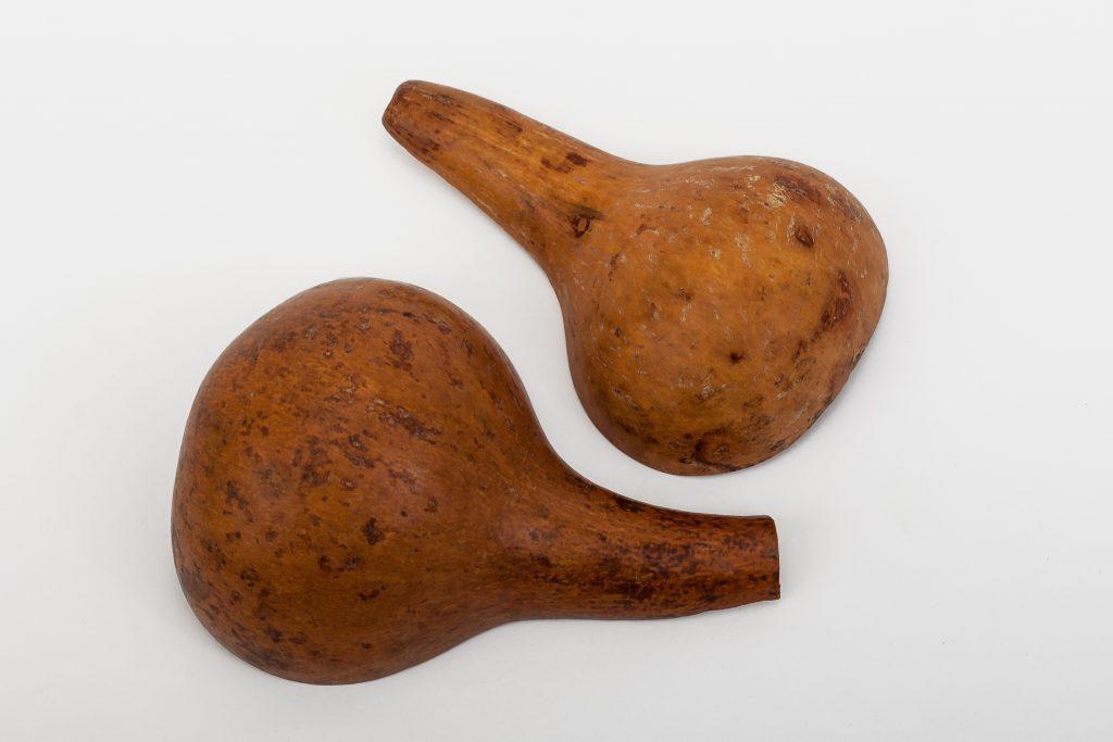 Gourd cut in half used as a bowl or dipper.