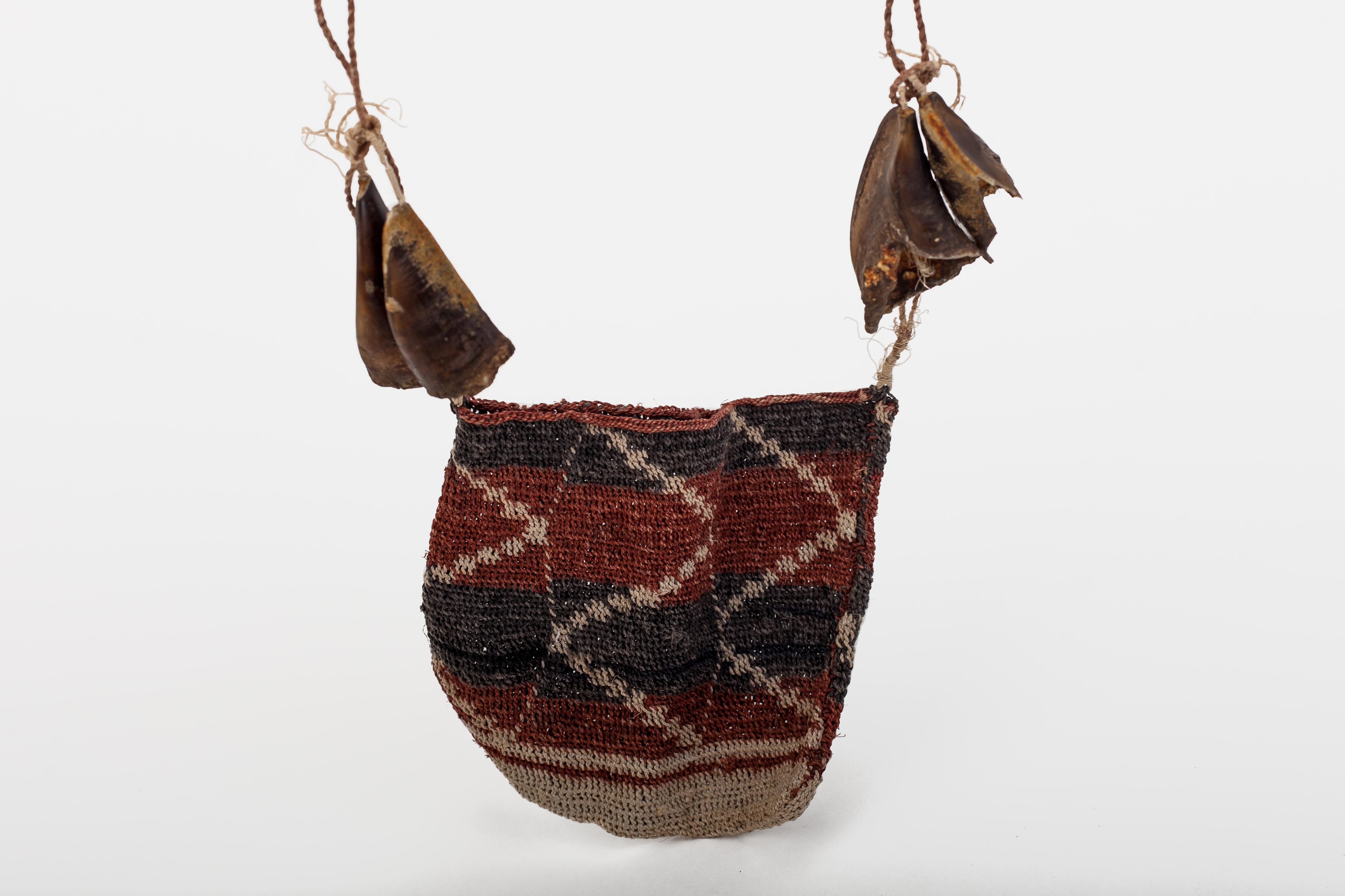Man's bag – design: 'pig hooves'.