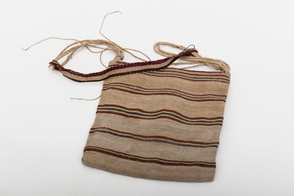 Man's bag – design: meaning unknown – very tight weave.