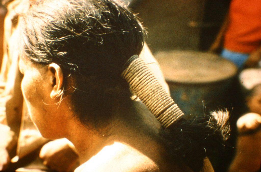 Rope-tied hair